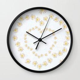 Daisy chains and daisy hearts Wall Clock
