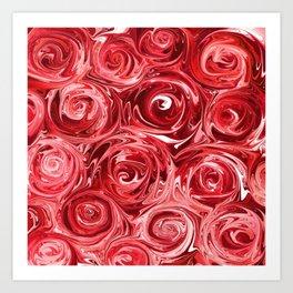 Ruby Red Roses Art Print