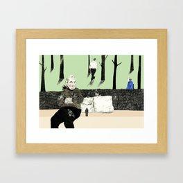 Pierre's Glorious Pigeons Framed Art Print