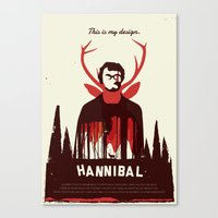 hannibal Canvas Prints featuring Hannibal by Risa Rodil