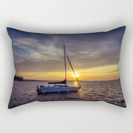 Before the sun sets Rectangular Pillow