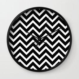 black and white pattern -  zig zag design Wall Clock