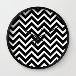 black and white pattern -  zig zag design Wall Clock