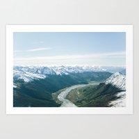 Matukituki river valley Art Print