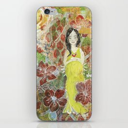 She Blooms iPhone Skin
