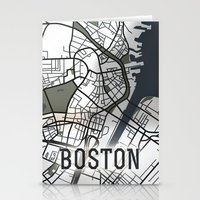 boston Stationery Cards featuring Boston by Sophie Calhoun
