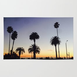 Palm Trees at Sunset Rug