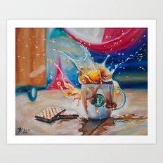 Coffee Splash! Art Print
