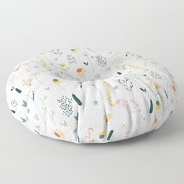 Vintage Inspired Wildflower Print Floor Pillow