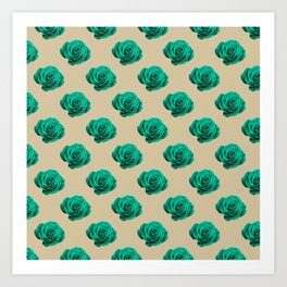 Tulip_Flora_Promise Rose repeat pattern Art Print