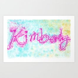 kimberly colorful doodle Art Print