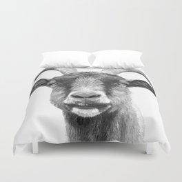 Black and White Goat Duvet Cover