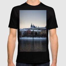 Prague Castle Mens Fitted Tee Black MEDIUM