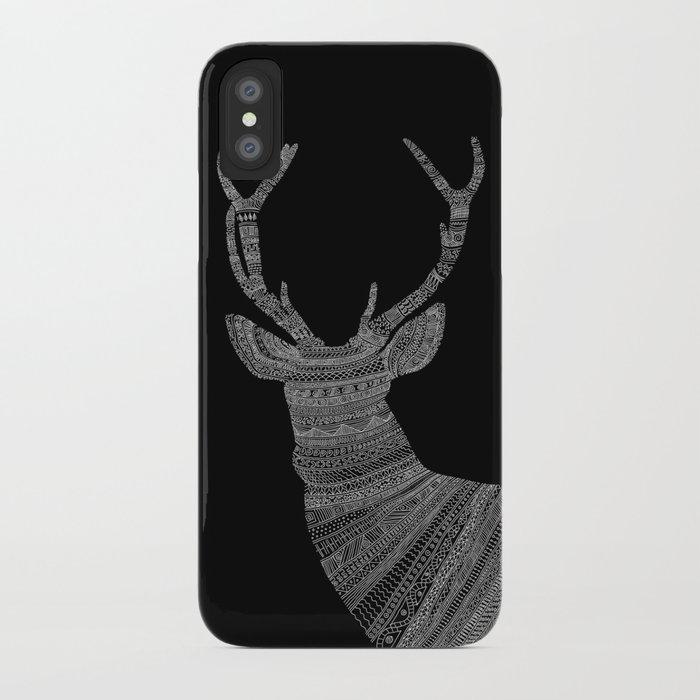 Stag / Deer (On Black) iPhone Case