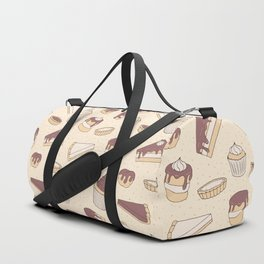 Chocolate Pastry Pattern Duffle Bag