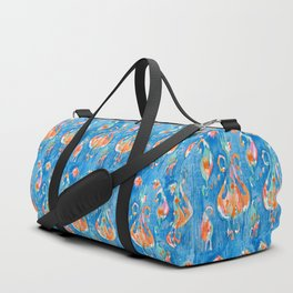 electric blue balinese ikat mini Duffle Bag