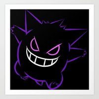gengar Art Prints featuring Gengar by Proxish Designs