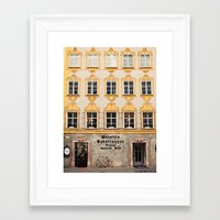 mozart Framed Art Prints featuring Mozart Residence  by Laura Ruth