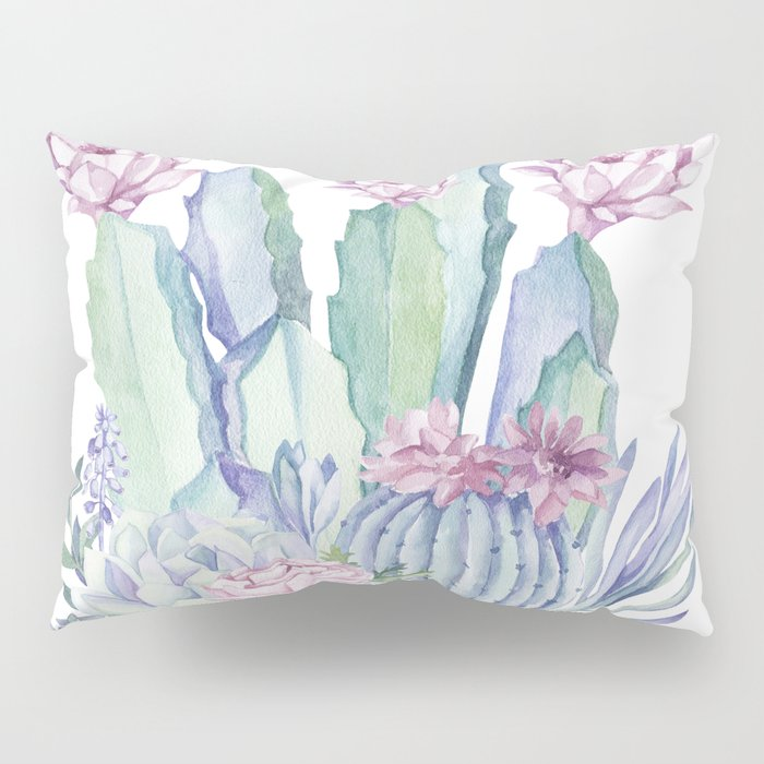 Desert Love Cactus + Succulents Pillow Sham