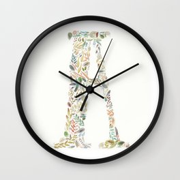 A of Leaves Wall Clock