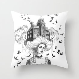 Chimney Swifts Throw Pillow