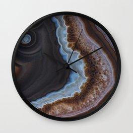 Mocha Agate Wall Clock