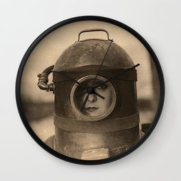Scaphandre vintage photo Wall Clock