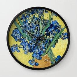 1890-Vincent van Gogh-Irises-73,5x92 Wall Clock