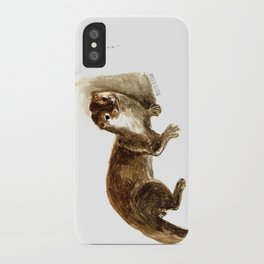 Totem otter: Amblonyx cinerea iPhone Case