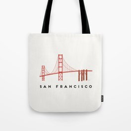Golden Gate Bridge 2, San Francisco, California Tote Bag