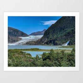 Glacier Meets Water Art Print