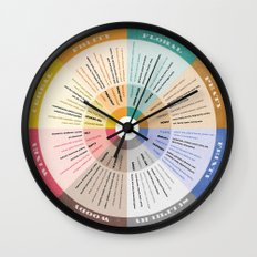 Scotch Flavour Wheel Wall Clock