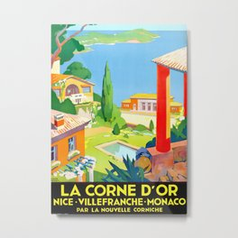La Corne D'or 1930 by Roger Broders, Vintage Travel Poster Metal Print