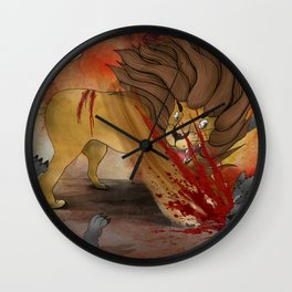 'Who is the strongest?' Illustration 2 (Original) Wall Clock