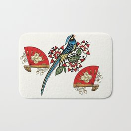 Asian Bird Art Deco Bath Mat