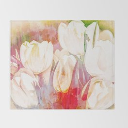 Tulip Fever Abstract Art Throw Blanket