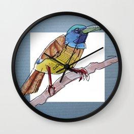 Orangebreast sunbird Wall Clock