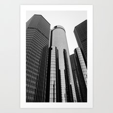 Renaissance Center Art Print
