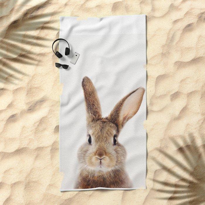 Baby Rabbit, Baby Animals Art Print By Synplus Beach Towel