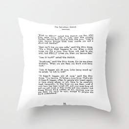 Becoming Real, Velveteen Rabbit Quote Throw Pillow
