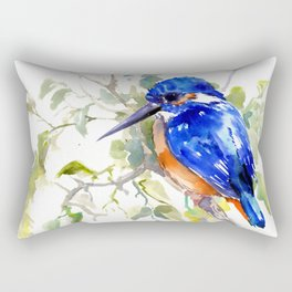 Kingfisher on the Tree Rectangular Pillow