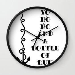 Yo ho ho and a bottle of rum Wall Clock
