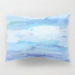 Impasto Sky Abstract Impressionist Texture Fine Art Painting Pillow Sham