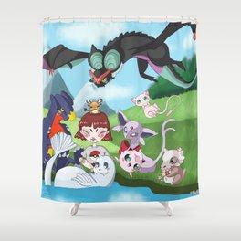 pokefriend Shower Curtain