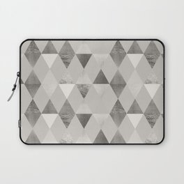 FUNKY PATTERN Triangles brown Laptop Sleeve