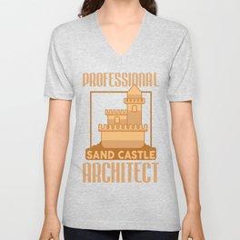 Architect Architecture Funny Professional Sand Castle Unisex V-Neck