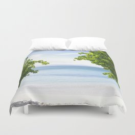 Alone on the beach Duvet Cover