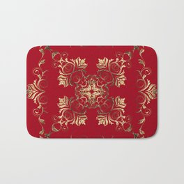Baroque style golden texture/background Bath Mat