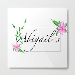 Names.Personalised gift ideas.Abigail Metal Print