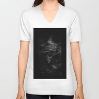 the cure V-neck T-shirts featuring CURE by Atrament Fox